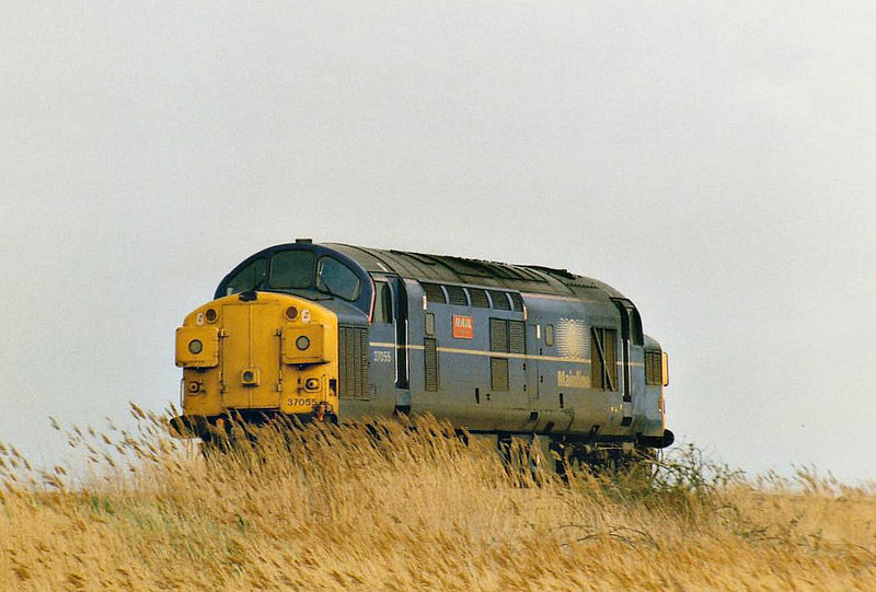 37055 RAIL CELEBRITY heads east past Horsemoor light engine, 30/03/98. This engine was withdrawn 04/02.
