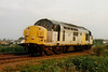 37079 MEDITE heads east light engine past Silt Road LC, 11/08/97. This engine was withdrawn 11/98.