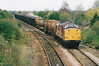 37703 approaches March West Junction on 6L76 Doncaster - Ely North Junction, 20/04/00.