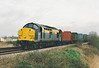 37058 approaches Silt Road LC on 6G31 March - Brandon, 29/03/99. This loco was withdrawn in 10/00 and scrapped.