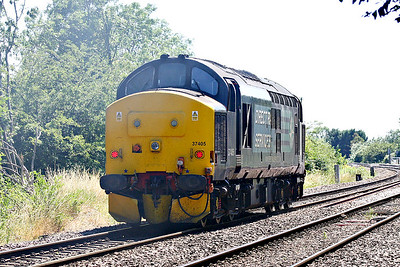 37405 passes Badgeney Road AHB on 0Z57 Crewe Gresty Lane - Norwich Crown Point, no doubt bound for short set duties, 03/07/18.