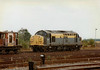 37038 stabled in March Up Yard between duties, 27/08/96. This loco was withdrawn 03/99.