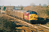 37040 approaches March West Junction on 6L76 Doncaster - Ely North Junction 'Enterprise', 22/02/00.