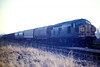 37078 aerrives in Whitemoor Up Reception Sidings with a Pakeston Quay bound freight, 03/03/86.
