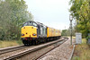 37602 brings up the rear of 1Q13 Derby RTC - Norwich as the train approaches Silt Road LC, 17/10/11.