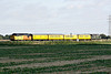 37254 CARDIFF CANTON heads across the Fen from March on 1Q86 March Down Yard - Derby RTC, 37057 bringing up the rear, 14/10/17. The train had spent the whole week in East Anglia.