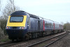 43017 trails, with 43174 out of shot round the corner, on the 1150 St Philips Marsh HST Depot - Ely North Junction off-lease stock move past Badgeney Road AHB, 05/03/19.