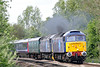 47815 LOST BOYS 68-88 and 47813 JACK FROST approach Badgeney Road AHB on 5L46 Laira HST Depot - Ely North Junction off-lease stock move, 15/04/19. This train had departed Laira at 0815. I do love to see Class 47's at full cry!