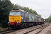 57003 and 57002 RAIL EXPRESS are in tow of 37424 AVRO VULCAN XH558 as they pass Badgneney Road AHB as 0Z57 Stowmarket - Crewe Gresty Bridge, 15/10/19. Both are bring sent home, banned from RHTT duties due to their unreliablity.