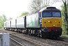 57007 approaches Badgeney Road AHB on 5Z29 Norwich Crown Point - Burton on Trent Wetmore Sidings ecs, 68003 ASTUTE on the rear, 10/04/17,