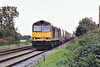 60002 approaches Chettisham having just commenced its return journey on 6M87 Ely North Junction - Peak Forest RMC empties, 10/11/06.