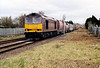 60002 approaches Norwood Road LC on 6M87 Ely North Junction - Peak Forest RMC empties, 28/02/06.