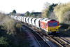 60007, a 'Super 60', approaches March West Junction on 6L75 Peak Forest - Ely stone, 25/11/11.