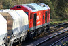 60007 slows as it approaches March Station so as to take the Up Loop with 6L75 Peak Forest - Ely stone, 25/11/11.