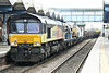 66847, originally Freightliner 66574, runs through March Station on the bi-directional Up line on 6L37 Hoo Junction - Whitemoor Yard, 31/03/14.