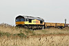 66846, originally Freightliner 66573, passes Horsemoor on a very mixed 6L37 Hoo Junction - Whitemoor Yard, 28/04/14.