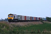 66303, ex Fastline but now on hire to Freightliner, approaches Horsemoor AHB on 4E50 Felixstowe - Leeds, 06/05/11.