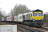 66414 heads east at Badgeney Road AHB on 4L85 Doncaster Europort - Felixstowe North, 22/02/17.
