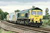 66517 approaches Silt Road LC on 4L85 Doncaster Railport - Felixstowe North, 21/08/14.