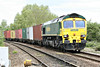 66502 approaches Badgeney Road AHB on the diverted 4L93 Basford Hall - Felixstowe North, 03/05/14.