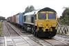 66517 passes Whittlesea on 4L87 Leeds - Felixstowe North, 12/08/21.