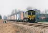 66503 approaches Brickyard OC on 4L85 Leeds - Felixstowe, 27/03/02.