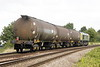 66418 PATRIOT passes Silt Road LC on 6E50 Ipswich Stabling Point - Lindsey Oil Refinery empty fuel tanks, 10/08/21.