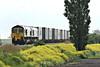 66501 JAPAN 2001 double-heads 66592 JOHNSON STEVENS AGENCY on 4M20 Felixstowe North - Lawley Street approaching Welney Road AHB, 24/05/14.