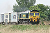 66533 powers past Horsemoor on 4L85 Doncaster Railport - Felixstowe, 28/04/14.