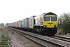 66415 YOU ARE NEVER ALONE, approaches Horsemoor AHB on 4M81 Felixstowe North - Crewe Basford Hall, 03/04/20.