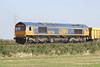 66735 approaches Three Horseshoes No.1 AHB on 6M60 Whitemoor Yard - Mountsorrell, 01/10/15.