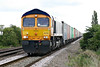66765 approaches Welney Road AHB on 4M29 Felixstowe North - Birch Coppice, 19/09/17.