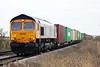 66785 approaches Welney Road AHB on 4E21 Felixstowe South - Doncaster Railport, 21/02/20.