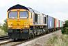 66754 NORTHAMPTON SAINTS approaches Welney Road AHB on 4Z26 Felixstowe North - Rotherham Masborough, 19/09/17.