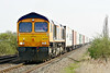66766 approaches Welney Road AHB on 4Z33 Felixstowe South - Doncaster Railport, 23/03/17.
