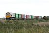 66745 approaches Horsemoor on 4E33 Felixstowe South - Doncaster Railport, 01/10/14.