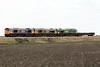 66773 PRIDE OF GB RAILFREIGHT hauls 66705 DIAMOND JUBILEE and Freightliner 66544 dead in train passing Horsemoor on a very short 6L37 Hoo Junction - Whitemoor Yard, 09/03/21.