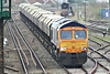 66733 runs into March Station on 6E67 Middleton Towers - Goole Glassworks, 31/03/14.