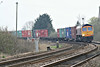 66733 rounds the bend to Badgeney Road AHB on 4E33 Felixstowe North - Doncaster Railport, 28/03/14.