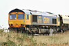 66702 heads west past Horsemoor on 6E67 Middleton Towers - Goole Glassworks, 28/04/14.