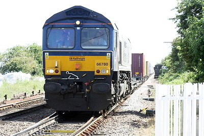 66780 THE CEMEX EXPRESS passes Manea on 4E21 Felixstowe South - Wakefield Europort, 08/06/21.
