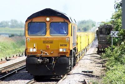 66782 passes Manea on 6L37 Hoo Junction - Whitemoor Yard, 08/06/21.