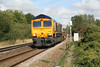 66728 approaches Badgeney Road AHB on 6T68 Whitemoor - Stansted, 18/09/11.