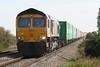 66745 MODERN RAILWAYS approaches Welney Road AHB on 4Z33 Felixstowe South - Doncaster Railport, 29/09/15.