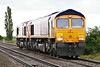 66770 leads 66729 passing Welney Road AHB on 0E05 Felixstowe - Peterborough, 01/10/16.