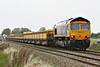 66702 BLUE LIGHTNING passes Manea on 6T64 Whitemoor Yard - Upminster for weekend engineering work, 01/10/16.