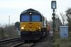 66789 BRITISH RAIL 1948-1997 approaches Badsgeney Road AHB on 6L37 Hoo Junction - Whitemoor Yard, 24/11/20.