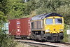66710 PHIL PACKER BRIT approaches Badgeney Road AHB on 4L29 Birch Coppice - Felixstowe North, 18/09/21.