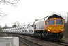 66788, erstwhile DBS 66238, approaches Badgeney Road AHB on 6E88 Middleton Towers - Goole sand, 14/03/18.
