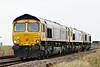 66745 MODERN RAILWAYS leads 66712 PETERBOROUGH POWER SIGNALBOX and 66762 over Whitemoor Drove AHB as 0L59 Peterborough - Whitemoor Yard, 21/12/16.